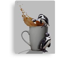 Tea Break - Pick up a Penguin Canvas Print