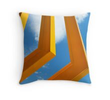 Golden Sculpture Throw Pillow
