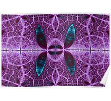 Purple Patterns Poster