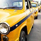 Ready for work: Ambassador Taxi Cabs in Kolkata by Rachel  Devenish Ford