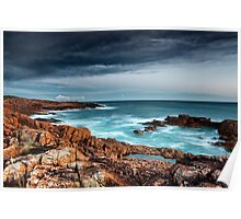 Boat Harbour rugged coast Poster