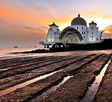 Strait of Malacca Mosque, Malacca, Malaysia by AbZahri AbAzizis
