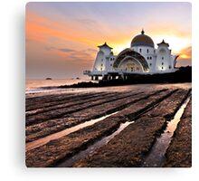 Strait of Malacca Mosque, Malacca, Malaysia Canvas Print