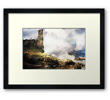 The Man Looks Down for History. Framed Print