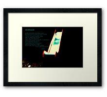 """""""THE DARK SLIDE"""" Framed Print"""