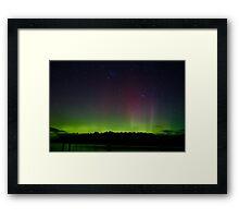 Aurora Australis (#2), Trial Bay, Tasmania, 19 March 2015 Framed Print