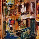 Rovinj - Croatia / Triptichon / original oil painting by andrassyp
