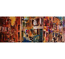Rovinj - Croatia / Triptichon / original oil painting Photographic Print