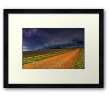 """""""Courageous"""" Framed Print"""
