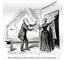 Achille Sirouy Mark Twain Les Aventures de Huck Huckleberry Finn illustration p180 Poster