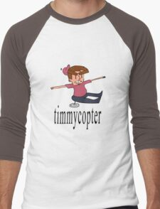 Timmycopter Men's Baseball ¾ T-Shirt