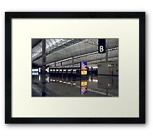 Just a Plane Ride Away Framed Print
