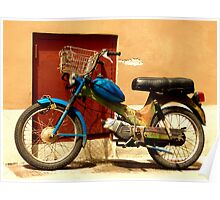 colourful eccentric moped Poster