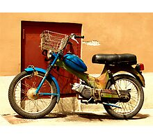 colourful eccentric moped Photographic Print