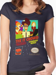 The IT Crowd NES game Women's Fitted Scoop T-Shirt