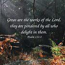Psalm 111:2 by Samantha Higgs