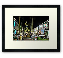 Street night scene  Framed Print