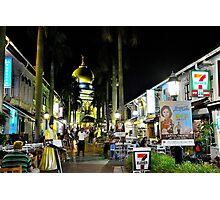 Street night scene  Photographic Print