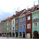 Colorful houses in Poznan - Poland by Arie Koene