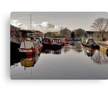 Skipton Canal Basin Canvas Print