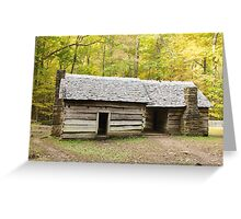 Ephraim Bales Cabin Greeting Card