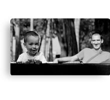 Little boy Janko with his dad Canvas Print