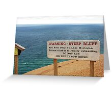 Sleeping Bear Dunes, Michigan, Again ~ A Notable Reality Greeting Card