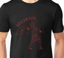 Roman Warrior Wielding Spear in Roman War Gear - Epilektos Unisex T-Shirt