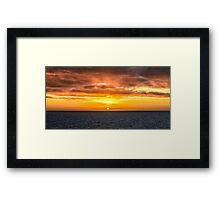 Arafura Sea Sunset Framed Print