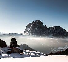 italian alps in winter by zakaz86