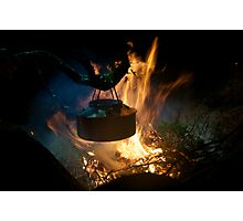 Coffee on open fire Photographic Print