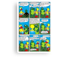 "Rick the chick  ""THE MAGIC SHELL (ITALIANO) parte 5"" Canvas Print"