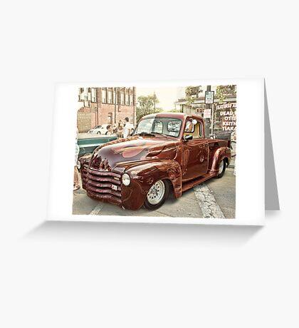 Car Show classic Greeting Card