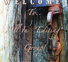 Temp. Welcome banner for All In * Editing* group by linmarie