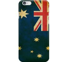 Vintage Grunge Australian Flag iPhone Case/Skin
