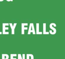 Quahog, Langley Falls and Stoolbend Sticker