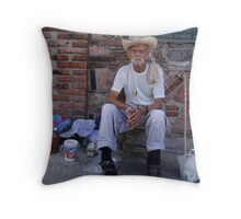 The old seller of honey - Viejo vendedor de miel Throw Pillow