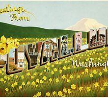 Puyallup Vintage Postcard by JohnOdz