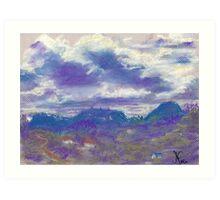Sleeping Under the Clouds (pastel) Art Print
