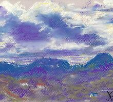 Sleeping Under the Clouds (pastel) by Niki Hilsabeck