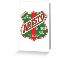 Aristo Motor Oil vintage sign reproduction Greeting Card