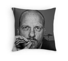 """Self Portrait """"smoking"""" Throw Pillow"""