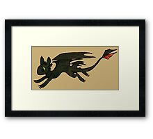 Tiny Toothless Framed Print