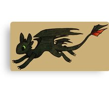 Tiny Toothless Canvas Print