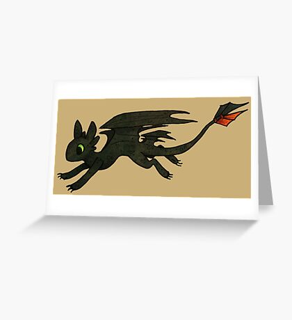 Tiny Toothless Greeting Card