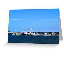 Harbour at Cheticamp, Nova Scotia Greeting Card