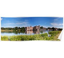 Panoramic Leeds Castle Poster