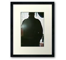 Dad Backlit in Restaurant  Framed Print