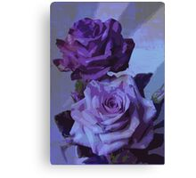 Blue Roses - Floral Art Print Canvas Print