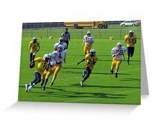 Jeff Davis yelllow jackets vs Wayne county yellow jackets Greeting Card